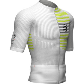 Compressport Triathlon Postural SS Zip Top Men white/yellow